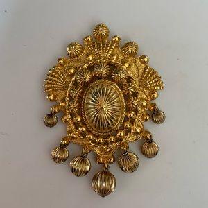 Vintage Nettie Rosenstein Unique Gold Brooch/Pin